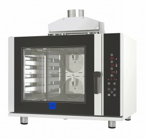 Horno de convección a gas de 6 bandejas ideal para la panadería y la pastelería