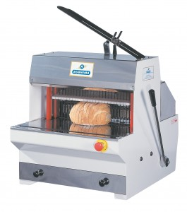 Cortadora de pan de sobremesa rebanadora semiautomatica