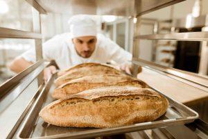 barras de pan hechas con amasadora de brazos Rubhima