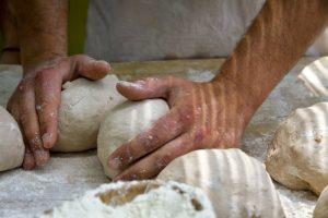 masa de pan elaborada con amasadora de brazos Rubhima