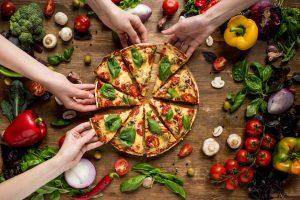 pizza hecha con amasadora de horquilla Rubhima